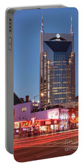 Portable Battery Charger featuring the photograph Nashville - Batman Building by Brian Jannsen