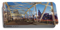 Portable Battery Charger featuring the photograph Nashville Bridge by Brian Jannsen