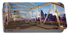 Portable Battery Charger featuring the photograph Nashville Bridge II by Brian Jannsen