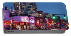 Portable Battery Charger featuring the photograph Nashville - Broadway Street by Brian Jannsen