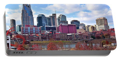 Nashville On The Riverfront Portable Battery Charger by Frozen in Time Fine Art Photography