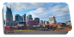 Nashville Panorama View Portable Battery Charger by Frozen in Time Fine Art Photography