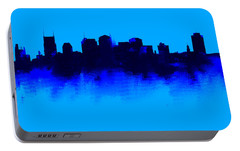Nashville  Skyline Blue  Portable Battery Charger by Enki Art