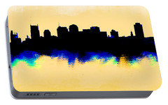 Nashville  Skyline  Portable Battery Charger by Enki Art