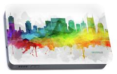 Nashville Skyline Mmr-ustnna05 Portable Battery Charger by Aged Pixel