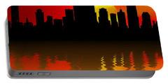 Nashville Skyline Sunset Reflection Portable Battery Charger