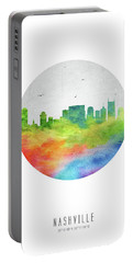 Nashville Skyline Ustnna20 Portable Battery Charger by Aged Pixel