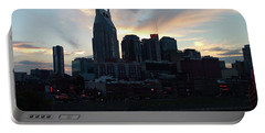 Portable Battery Charger featuring the photograph Nashville Sunset by Nick Kirby