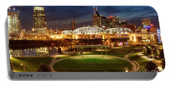 Portable Battery Charger featuring the photograph Nashville Twilight Skyline by Brian Jannsen