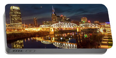 Portable Battery Charger featuring the photograph Nashville Twilight Skyline II by Brian Jannsen