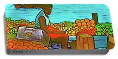 Nassau Fruit Seller At Waterside Portable Battery Charger