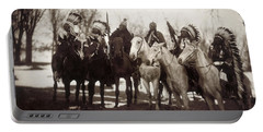 Portable Battery Charger featuring the photograph Native American Chiefs by Granger