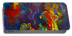 Portable Battery Charger featuring the painting Native American Fire Spirits by Claire Bull
