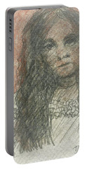 Native American Girl Portable Battery Charger