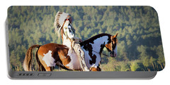 Native American On His Paint Horse Portable Battery Charger