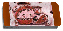 Native American Pottery Mosaic Portable Battery Charger by Paula Ayers
