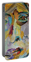 Native American Reflection Portable Battery Charger by Michael Cinnamond