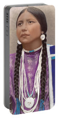 Native American Woman Portable Battery Charger