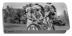 Native Americans With Bicycle Portable Battery Charger