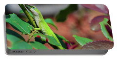 Native Anole Portable Battery Charger by Stefanie Silva