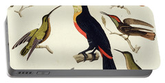 Native Birds, Including The Toucan From The Amazon, Brazil Portable Battery Charger