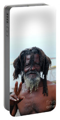 Portable Battery Charger featuring the photograph Native Man by Gary Wonning