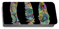 Native Mandala Feathers 3 Portable Battery Charger