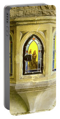 Portable Battery Charger featuring the photograph Nativity In Ancient Stone Wall by Linda Prewer