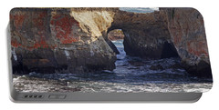 Natural Bridge At Point Arena Portable Battery Charger by Mick Anderson