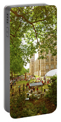 Portable Battery Charger featuring the photograph Natural History Museum Summertime by Anne Kotan