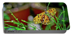 Nature - Butterfly And Plants Portable Battery Charger
