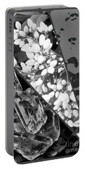 Nature Collage In Black And White Portable Battery Charger