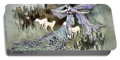 Portable Battery Charger featuring the digital art Nature Goddess by Pennie McCracken