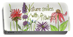 Nature Smile With Flowers Portable Battery Charger