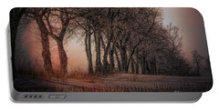 Nature Winter Bare Trees Color  Portable Battery Charger