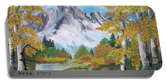 Portable Battery Charger featuring the painting Nature's Beauty by Sharon Duguay