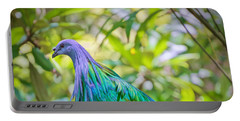 Portable Battery Charger featuring the painting Nature's Best by Judy Kay