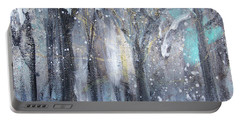Portable Battery Charger featuring the painting Nature's Cathedral by Robin Maria Pedrero