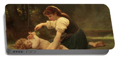 Natures Fan Portable Battery Charger by Troy CapertonWilliam Adolphe Bouguereau
