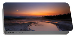 Natures Jacuzzi Yellowstone Hot Spring Sunset Portable Battery Charger
