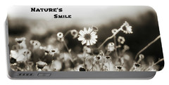 Nature's  Smile Monochrome Portable Battery Charger by Joseph S Giacalone