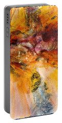 Portable Battery Charger featuring the painting Naturescape In Red by Carolyn Rosenberger