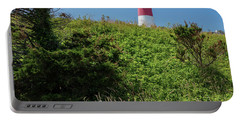 Nauset Lighthouse With Daisies Cape Cod Portable Battery Charger
