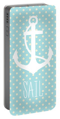 Nautical Anchor Art Print Portable Battery Charger