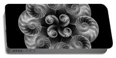 Portable Battery Charger featuring the photograph Nautilus Abstract Art by Tom Mc Nemar