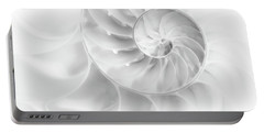 Nautilus Shell In High Key Portable Battery Charger