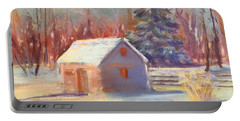 Nauvoo Winter Scene Portable Battery Charger