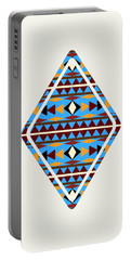 Navajo Blue Pattern Art Portable Battery Charger
