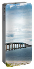 Portable Battery Charger featuring the photograph Navarre Bridge In Florida On The Sound Side by Shelby Young