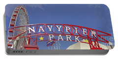Navy Pier Portable Battery Charger by Mary Machare